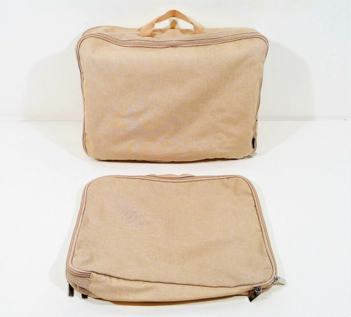 "2 Piece West Elm Pink Brief Carry Bags 11"" x 16"" and 10"" x 14"" **DIRT AND STAIN"