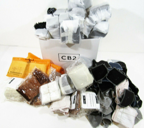 """Approx. 25lbs. of CB2 4"""" x 4"""" Fabric Swatch Samples Miscellaneous Colors/Pattern"""