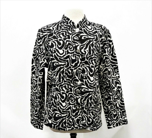 Chico's Reversible Mix it Animal Berniese Jacket Size 3 *New With Tags*