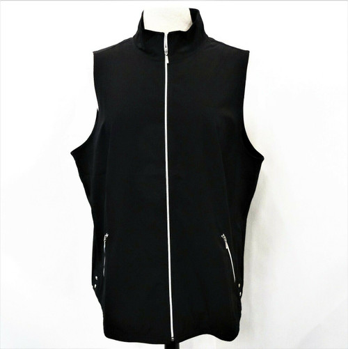 Zenergy By Chico's Women's Black Neema Classic Vest Size 3 New With Tags