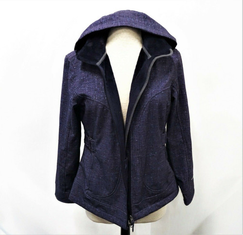 Free Country Live In It! Women's Purple Fitted Hoodie Jacket Size Medium *Stains