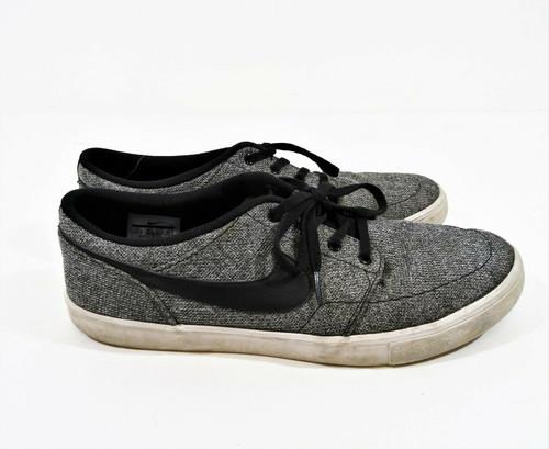 Nike SB Solarsoft Portmore II Gray Men's Canvas Sneakers Size 11.5