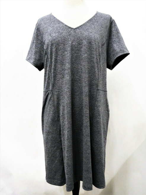 J.Jill Fit Marled V Neck Gray Blue Knit Dress Size XL *New With Tags*