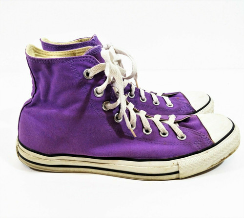 Converse All Stars High Tops Purple Sneakers Size 9.5