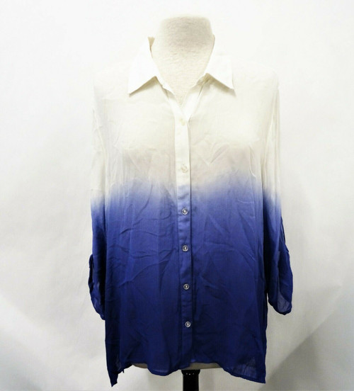 Chico's Dip Dye Dreams Kassi Tryian Purple Blouse Size 3 *New with Tags*