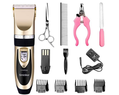 Sminiker Pet Hair Clipper Pro Pet Grooming Kit - OPEN BOX