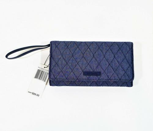 Vera Bradley Moonlight Navy RFID Wallet Crossbody Bag - NEW WITH TAGS