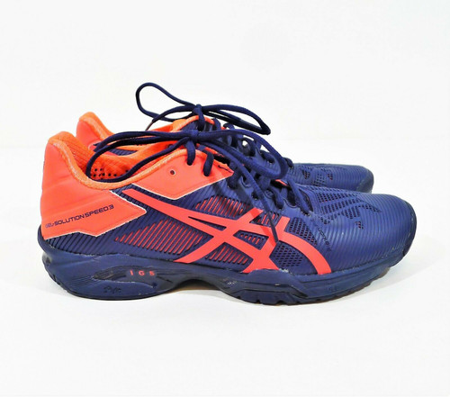 Asics Women's Blue/Red Gel Solution Speed 3 Athletic Shoes Size 8