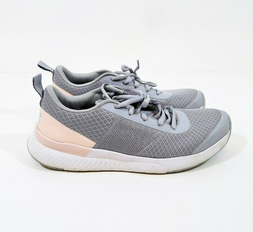 Under Armour Women's Mod Gray/Orange Dream Aura Trainer Sneaker Shoes 8.5