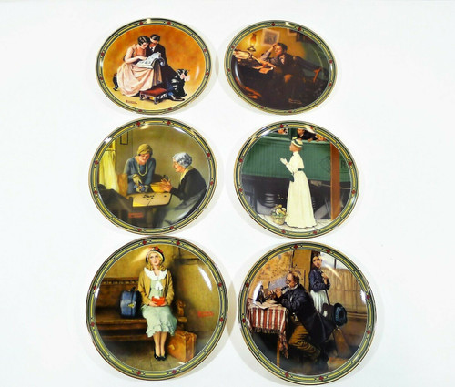 """Set of 6 Knowles """"Rockwell's American Dream"""" Limited Edition Collectors Plates"""