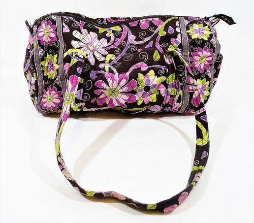 Vera Bradley Retired Purple Punch Small Duffel Travel Bag Tote