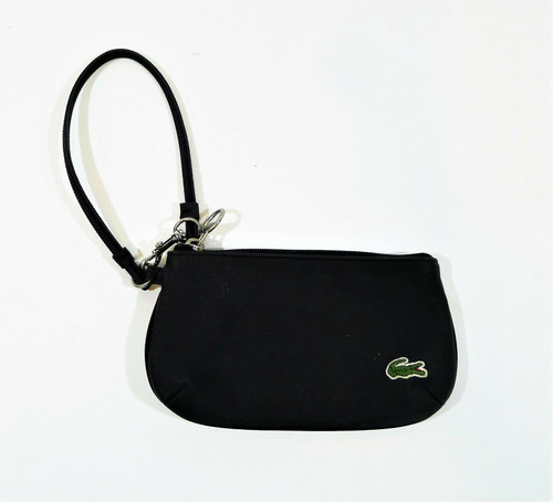 """Lacoste Women's Black PVC Wristlet 4.5"""" x 7.5"""""""