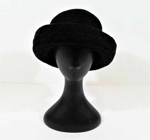 Chicos Black Women's Trendy Bowler Derby Hat