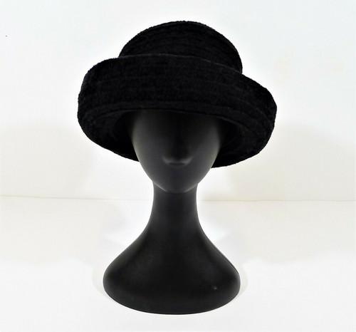 Chicos Black Women's Trendy Bowler Derby Hat