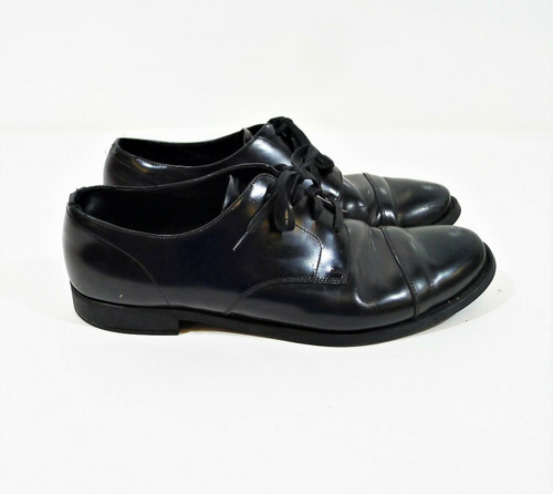 Prada Men's Black Leather Oxford Derby Dress Shoes 11 - DNC108 *SCRATCHES/SCUFFS