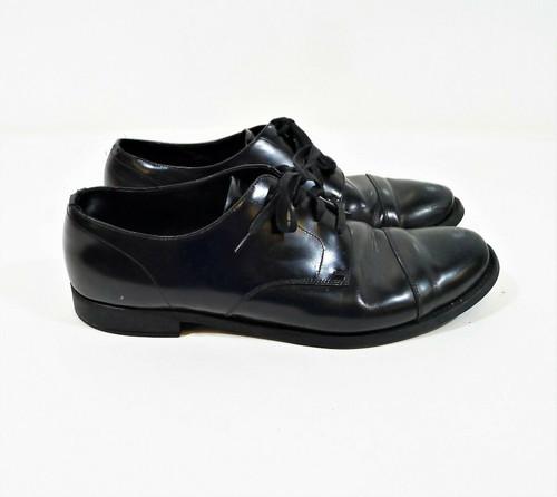 Prada Men's Black Leather Oxford Derby Dress Shoes 11 - DNC108 *SCRATCHES/SCUFFS