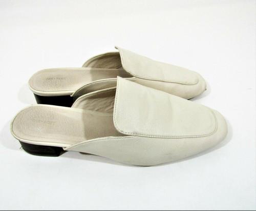Oak + Fort Women's Cream Leather Mule Slip On Shoes Size Size 9