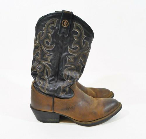 Tony Lama Men's Brown Bridle Cowboy Boots RR4001 Size 9 D