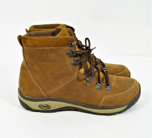 Chaco Men's Brown Lace Up Leather Ankle Boots Size 9 - J105405