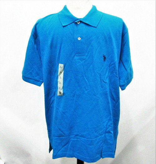 US Polo Assn Men's Blue Polo Shirt Shor Sleeve Size Large* New With Tags*