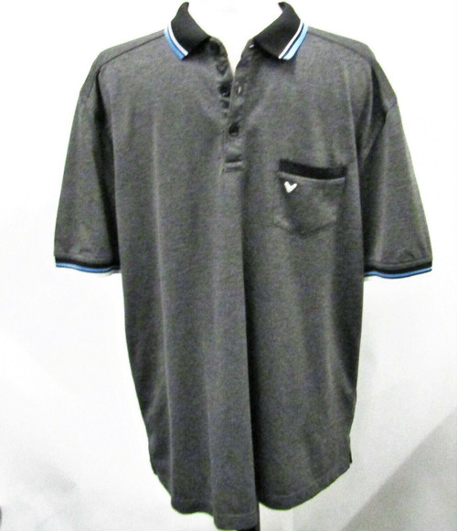 Callaway Charcoal Gray Men's Gold Polo Shirt Short Sleeve Size XL