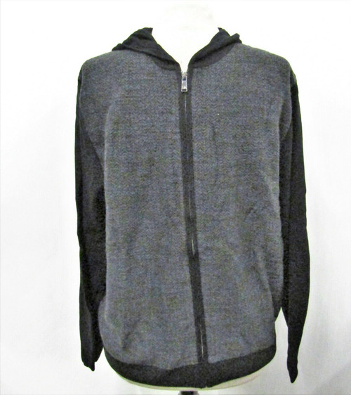 Ryan Seacrest Distinction Grey Knit Sweater Hoodie Size Large *New With Tags*