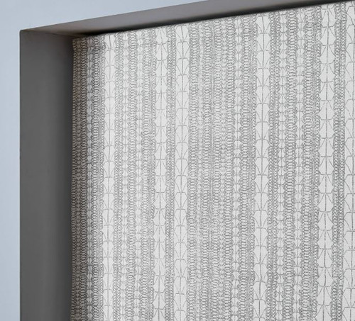"West Elm Echo Print Platinum Browback Cordless Shade 26"" x 64"" - NEW"