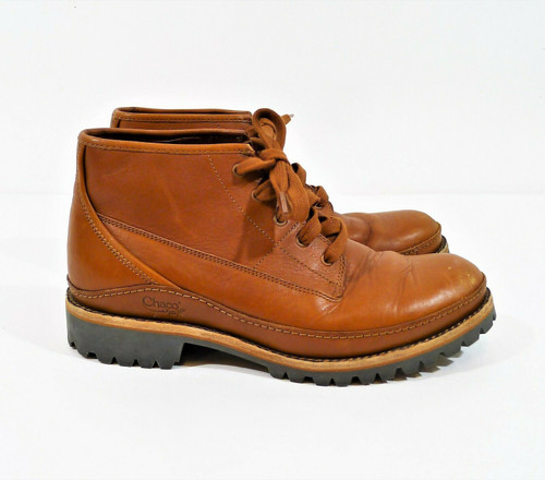 Chaco Men's Rust Lace Up Leather Ankle Boots Size 9 - J150113 **SCUFFS ON TOES