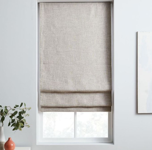 "West Elm Stone White Cordless Shade Blackout Lining  26"" x 64"" - NEW"