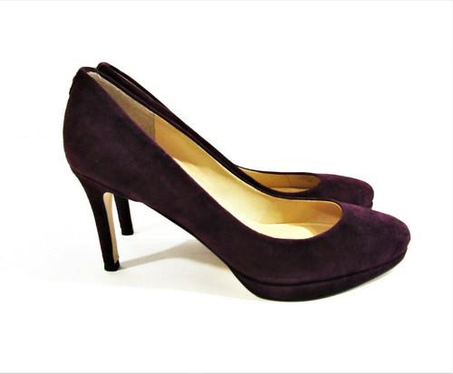 Ivanka Trump Purple Suede Sophia Heels Size 8.5