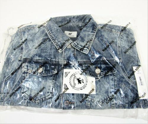 Maison Noir Men's Long Sleeve Blue Acid Wash Denim Jacket Size M *New With Tags*