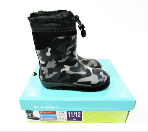 Western Chief Boys Gray Camouflage Snow Boots in Original Box Size 11