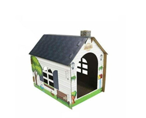 "ASPCA Scratch & Play Cardboard Cat House 19"" x 14"" x 11"" - OPEN BOX"