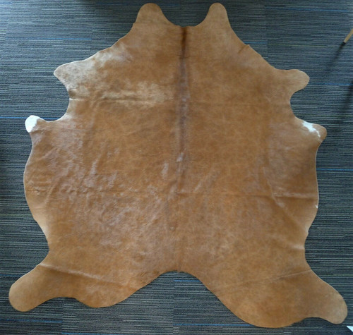 100% Brown Natural Hair Cowhide Rug Approx. 6' x 5'