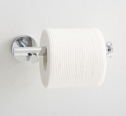 West Elm Modern Overhang Toilet Paper Holder - LIGHT SCRATCHES AND NO HARDWARE