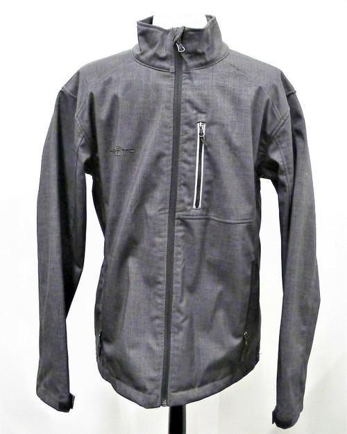 Free Tech Men's Gray Athletic Light Windbreaker Jacket Size Medium 38-40