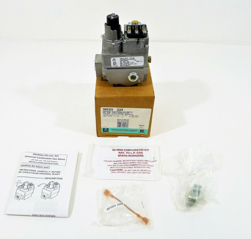 "White Rodgers 36C03-333 1/2"" x 3/4"" Standing Pilot Gas Valve Rev. A - OPEN BOX"