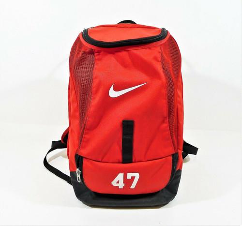 Nike Red #47 Club Team Swoosh Backpack University **DIRT AND WEAR