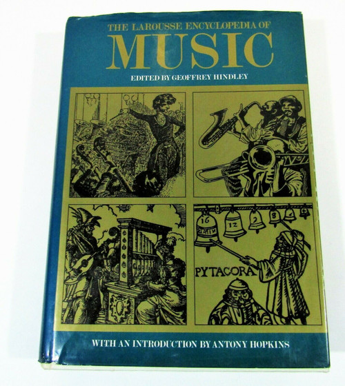 Larousse Encyclopedia of Music 1971 Hardcover Anthony Hopkins Intro Has Writing