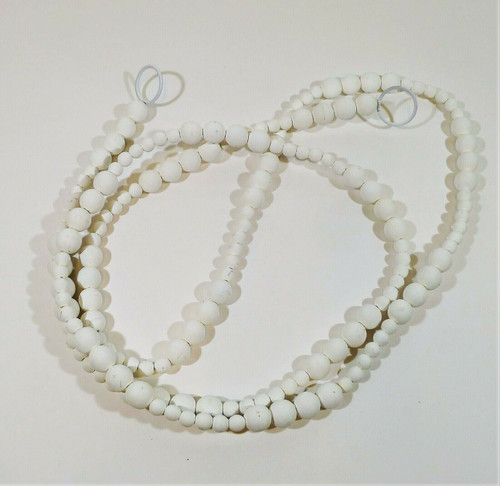 """CB2 Wooden Beaded Garland 120"""" - SCRATCHES AND SCUFFS"""