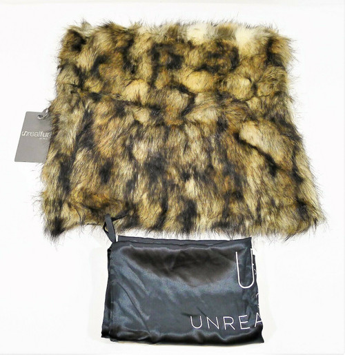 """Unrealfur Pillow Sham Only with Dust Bag 18"""" x 18"""" - NEW WITH TAGS"""