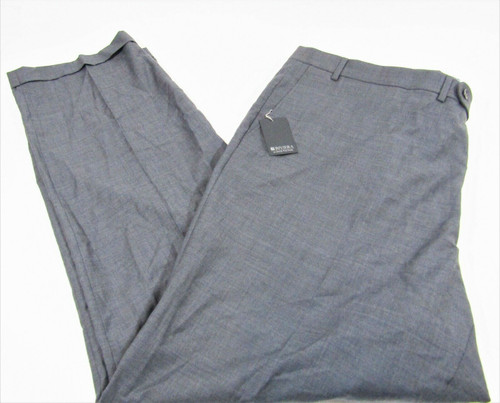 Rivera By Jack Victor Men's Gray Wool Blend Pants Size 50 Long New With Tags