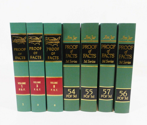 American Jurisprudence Proof Of Facts Book Set - 7 Books Total