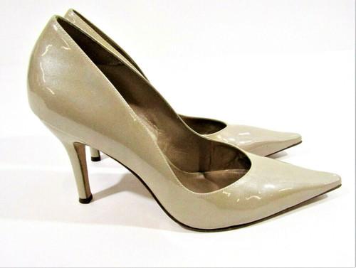 J Vincent Women's Latte Tan Patent Leather Stiletto High Heel Shoes Size 8.5M