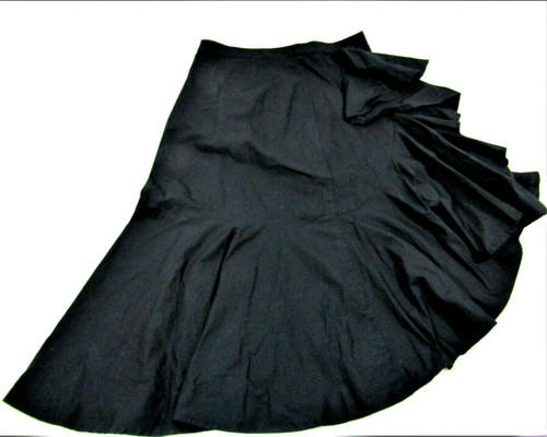 "Women's JOIE Black ""Chesmu"" Ruffled Cotton Asymmetric Skirt Size 6 New With Tags"