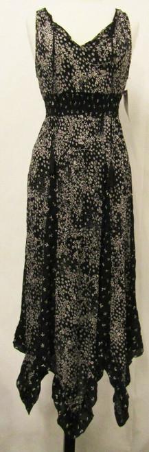 Bila Black & White Floral Women's Dress NWT Size Small