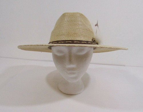 Alamo Hat Iron Weave Men's Western Hat with Feathers
