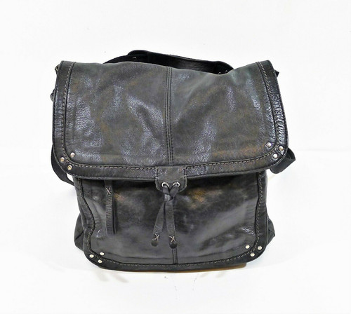 The Sak Black Flap Convertible Leather Backpack Shoulder Bag **SEE DESCRIPTION