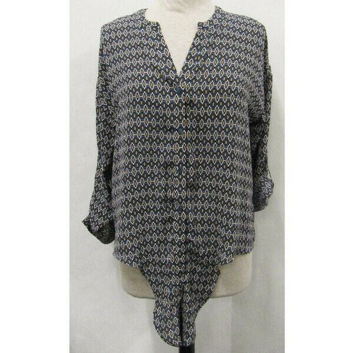 Pleione Patterned Women's 3/4 Sleeve Blouse NWT Size S