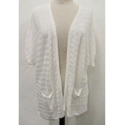 Chico's Optic White Women's Harmony Cardigan NWT Size 3